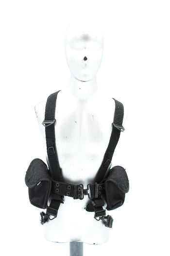 GI JOE - Snake Eyes - Black Rivet Belt & Harness Set