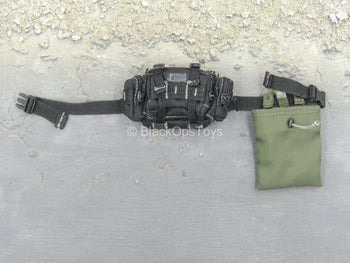 Black Butt Pack w/OD Green Dump Pouch