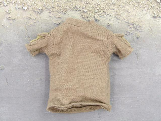 Barrack Sergeant PMC Machine Gunner Brown T-Shirt w/Pockets
