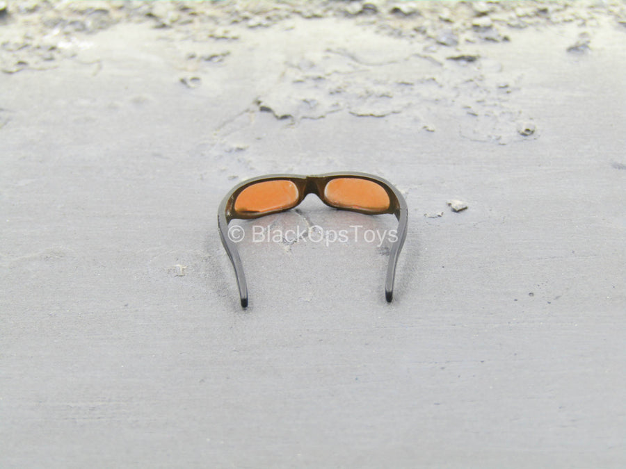 Black Glasses w/Orange Lenses