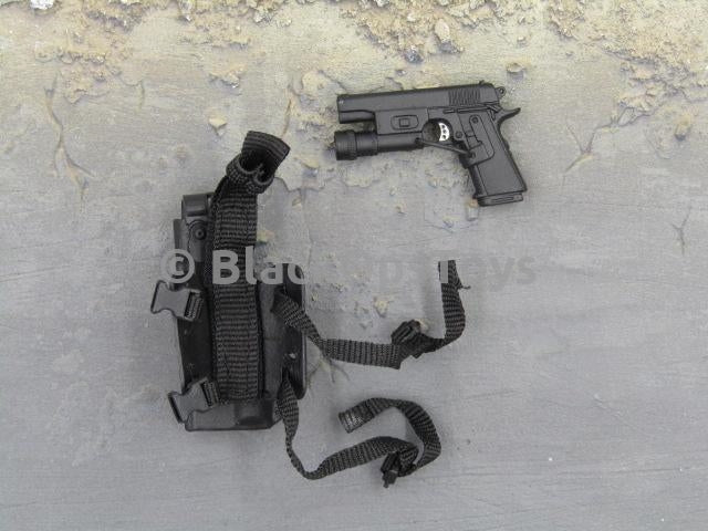 Barrack Sergeant PMC Machine Gunner Black 1911 Pistol w/Holster