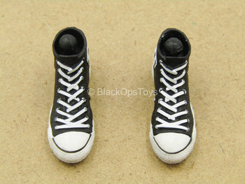 1/12 - Rumble Society - PSCC - Black & White Shoes (Peg Type)