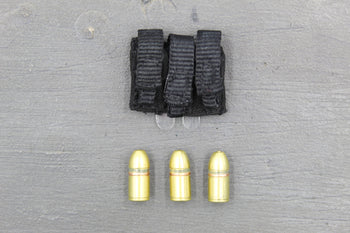 GI JOE - Snake Eyes w/Timber - Black Pouch w/M203 Grenade (x3)