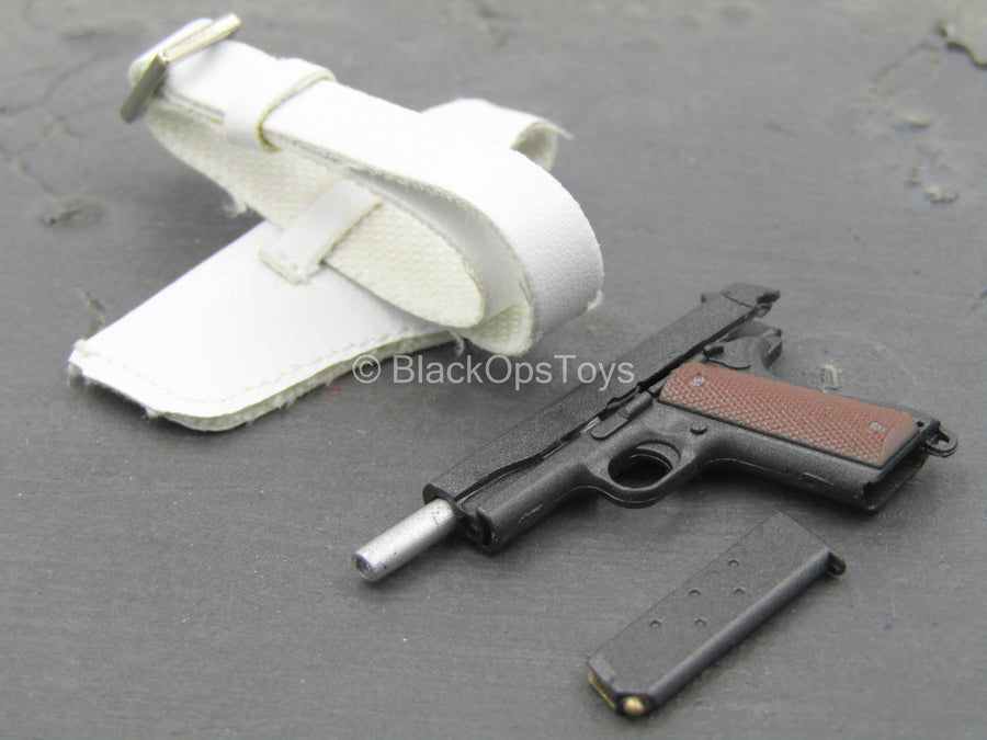 Ghost - 1911 Pistol w/White Drop Leg Holster (Right)