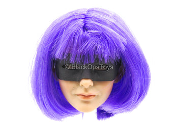 Hit Girl - Female Head Sculpt w/Purple Hair & Mask