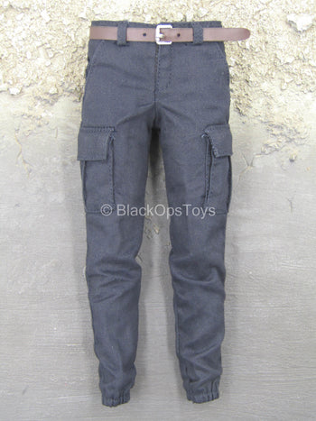 Iron Warrior - Dark Blue Pants w/Brown Belt