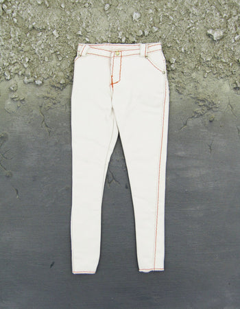 1/6 Scale Female White Leather-Like Pants
