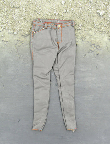 1/6 Scale Female Grey Leather-Like Pants