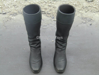 Sleepy Hollow - Ichabod Crane - Black Knee-High Boots (Peg Type)