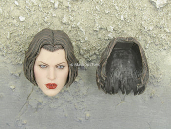 Resident Evil - Alice - Female Head Sculpt in Mila Jovovich Likeness