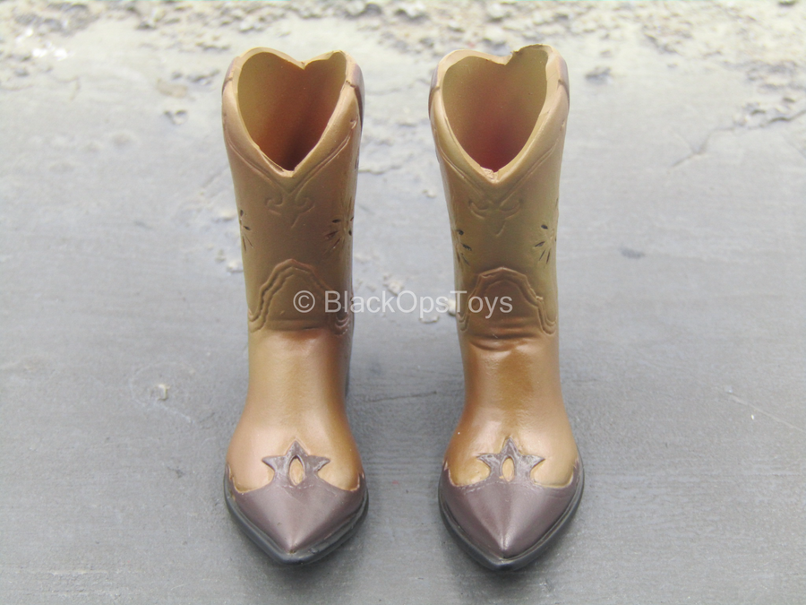 Brown Cowboy Boots (Foot Type) (Type 1) - MINT IN PACKAGE