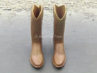 Brown Molded Cowboy Boots (Foot Type) (Type 2) - MINT IN PACKAGE