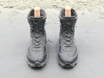 GI JOE - Snake Eyes w/Timber - Black Combat Boots (Peg Type)