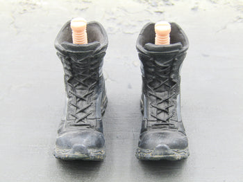 GI JOE - Snake Eyes w/Timber - Black Action Pose Boots (Peg Type)