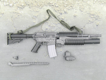 Grey M4 Carbine w/M203 Grenade Launcher