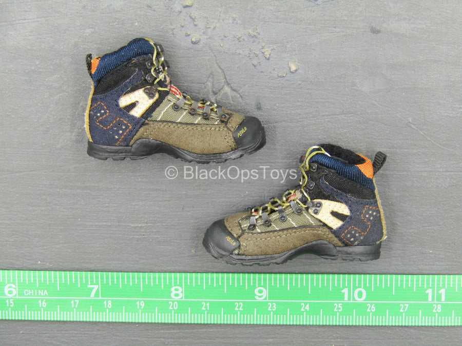 US - Army SFG - Brown & Blue Boots (Foot Type)