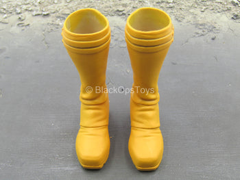 X-Men - Cyclops - Yellow Knee High Boots (Peg Type)
