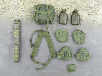 US Army Ranger - OD Green Harness & Canteen Set