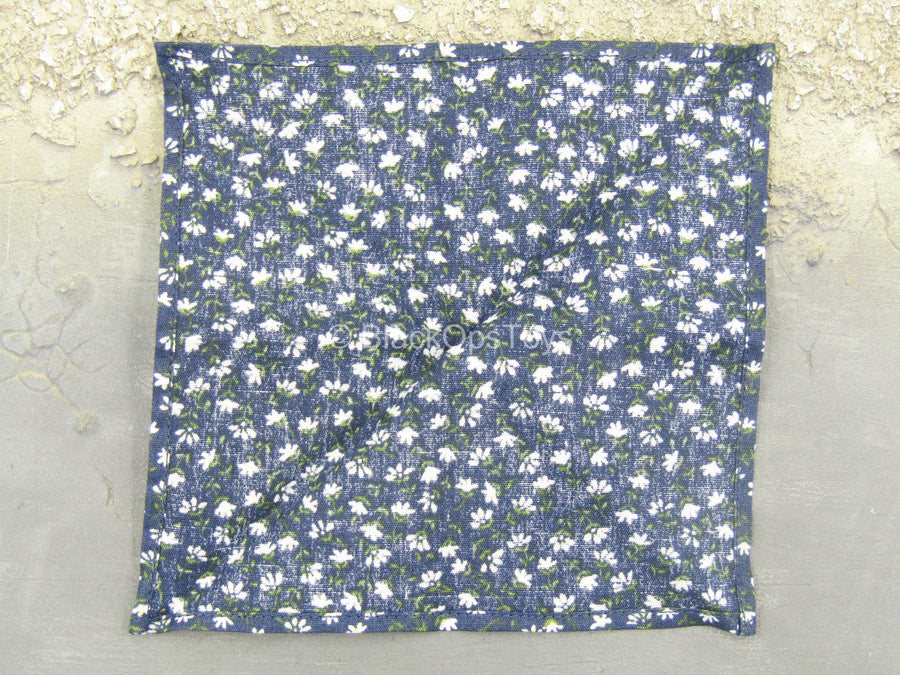 WWII - 18th Army - Medical Soldier - Blue Floral Bandanna