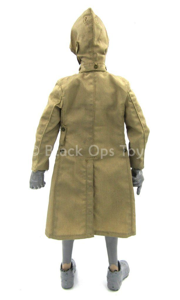 WWII - Imperial Japanese Army - Hooded Trench Coat w/Patch