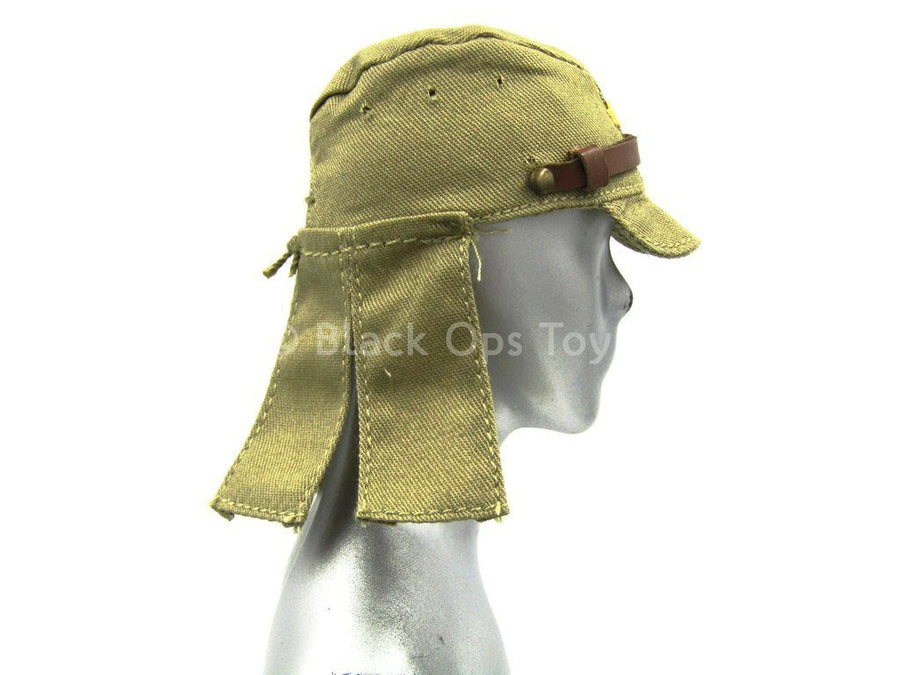 Japanese Infantry Arms Tan Hat w//Flaps 1//6 scale toy WWII