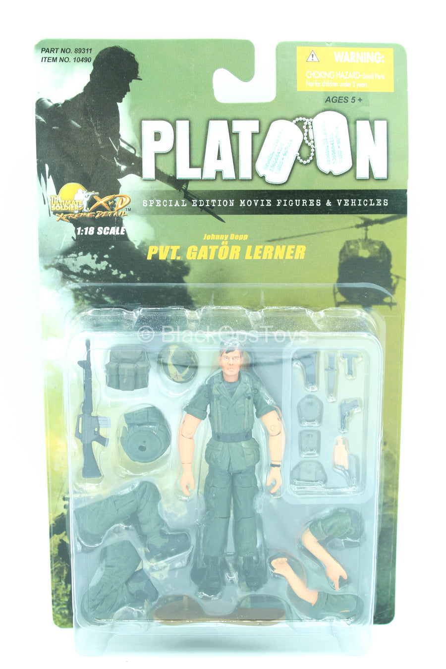 1/18 Scale - Platoon - Pvt. Gator Lerner - MINT IN BOX