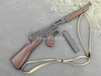 WWII - US Captain Miller - Metal Thompson Submachine Gun w/Sling