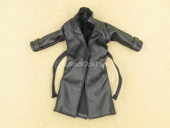 1/12 - Agent Gomez - Black Leather Like Trench Coat