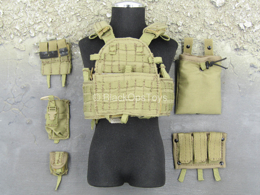 Navy Seal Team 10 - Coyote Tan MOLLE Plate Carrier Vest Set
