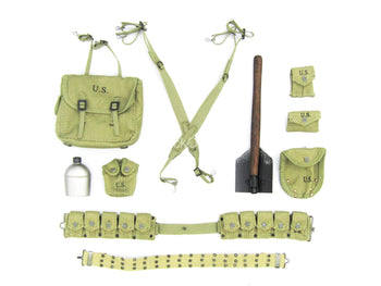 WWII - US 101st Airborne - Rivet Belt & Pouch Set