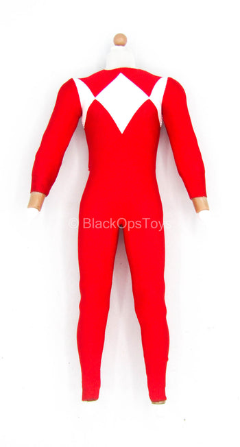 Golden Red Hero - Male body w/Red & White Bodysuit