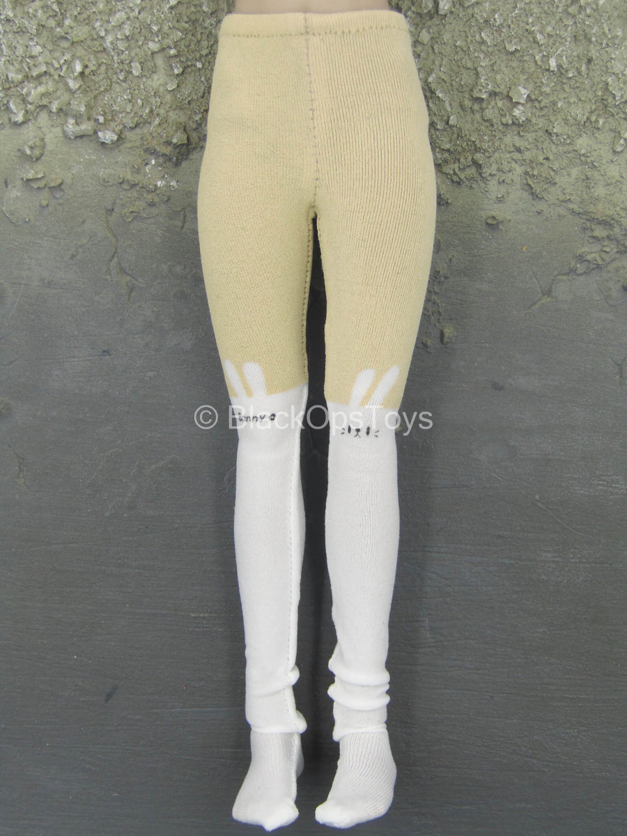 Armed Female 3.0 - Tan & White Leggings