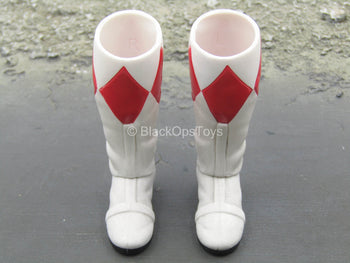 Golden Red Hero - White & Red Boots (Peg Type)