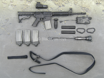 US Air Force STS - Black M4 Assault Rifle w/Attachment Set