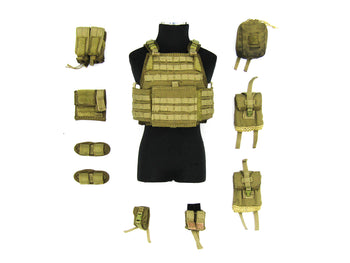 French Special Force - Tan Plate Carrier Vest & Pouch Set