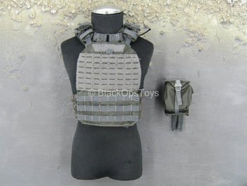 British - Street MPS - Grey Plate Carrier Vest w/Pouch