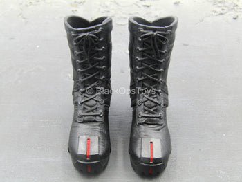 Daredevil - Black Combat Boots (Peg Type)