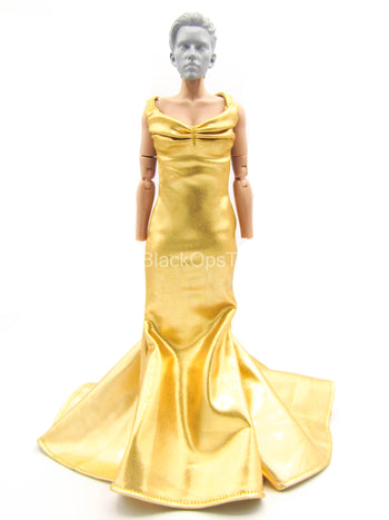 Female Dress Set - Gold-Colored Dress