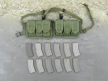 OD Green Chest Rig w/Magazine Set (x12)