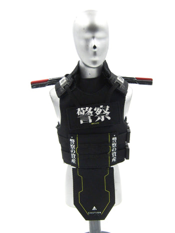 Neo Keisatsu - Black Vest w/Battery Pack