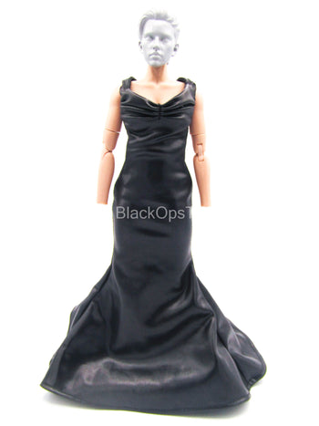 Female Dress Set - Black Leather-Like Dress