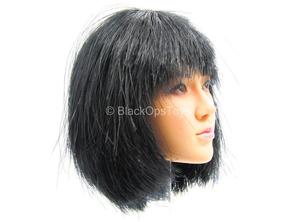 Female Dress Set - Female Asian Short Black Hair Head Sculpt