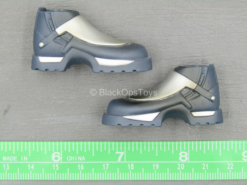 Star Wars - Jango Fett - Blue & Silver Boots (Foot Type)