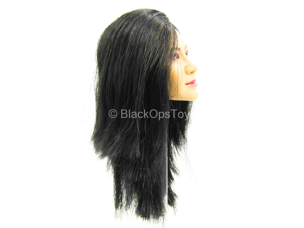 Female Dress Set - Female Asian Long Black Hair Head Sculpt