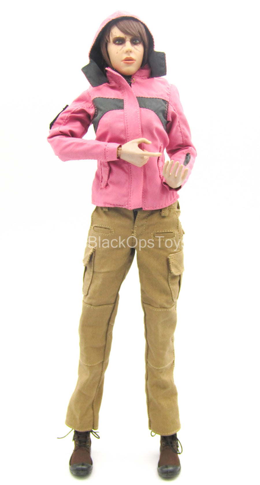 Pink Jacket & Foliage Green Shirt w/Tan Pants & Boots