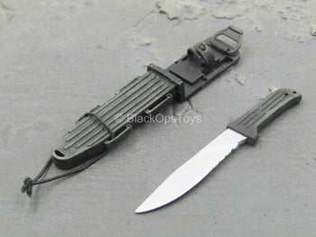WEAPON - Black Combat Knife w/Sheath