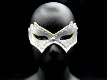 Female Dress Set - Silver-Colored Leather-Like Masquerade