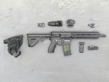 British - Urban Tactical MPS - Black HK416 Rifle w/Accessory Set