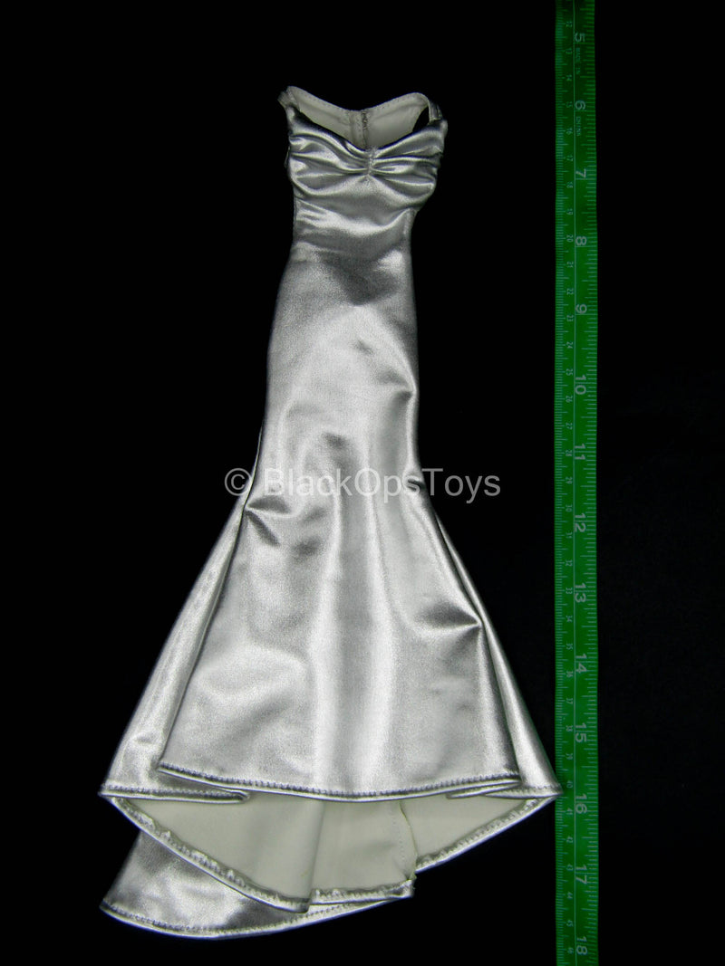 Female Dress Set - Silver-Colored Dress