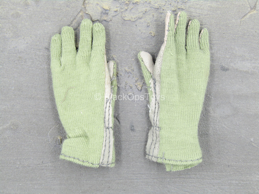 Black /& Grey Nomex Flight Gloves 1//6 scale toy UNIFORM